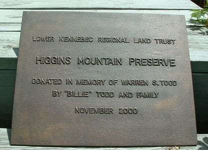 16 x 20 inch commemorative Land Trust plaque - oxidized