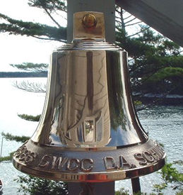 M18 8 3/4 inch bell with custom lettering at the rim