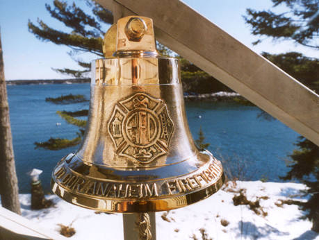 M19 with Firefighters Badge:  11 3/4 inch bell, 26 pounds.