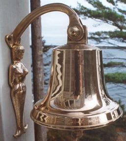M18 8 3/4 inch bronze bell (unlettered) with mermaid bracket.